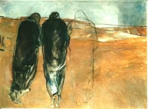 Emmaus by Janet Brooks-Gerloff, 1992  Benedictine Kornelimünster, Aachen